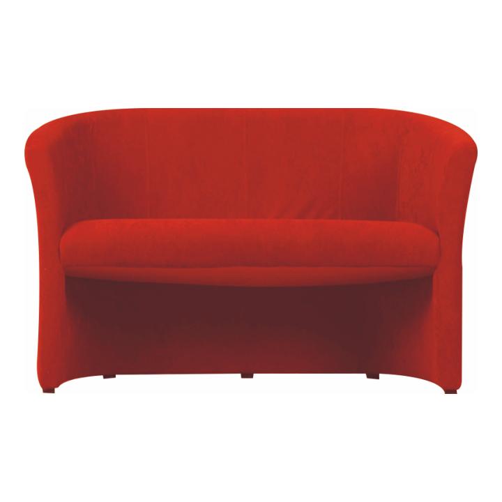 Dvojkřeslo ve stylovém látkovém provedení červená CUBA