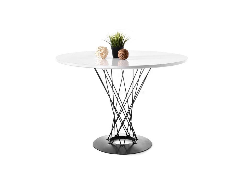 design4life Kruhový jídelní stůl SMER bílá-černá