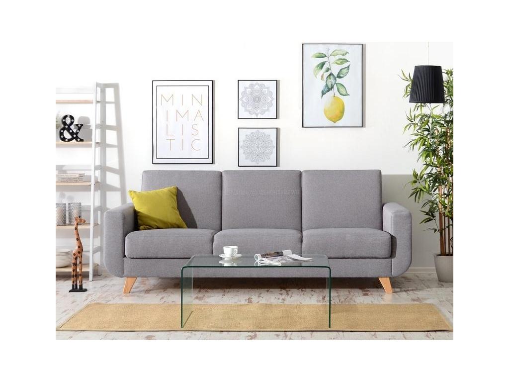design4life Rozkládací sedačka ALICE 2 šedá