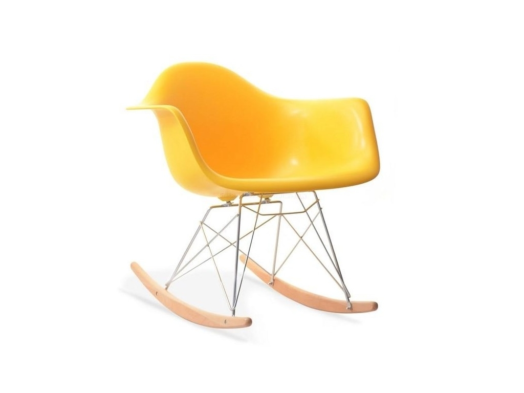 design4life Houpací křeslo MERLOTE žluté