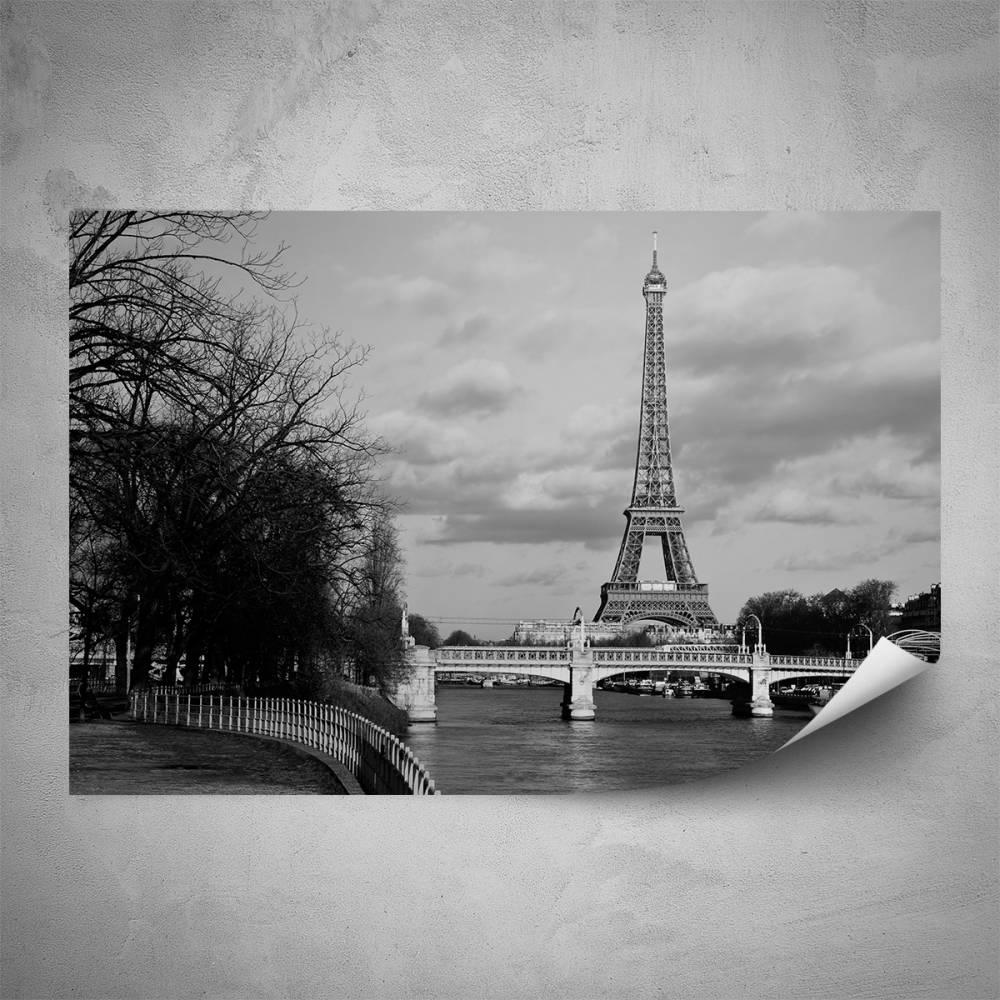 Plakát - Stylová Eiffelovka (60x40 cm)