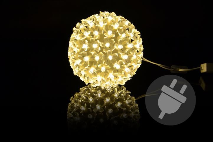 Vánoční dekorace - Vánoční LED koule - 12 cm OEM D05967