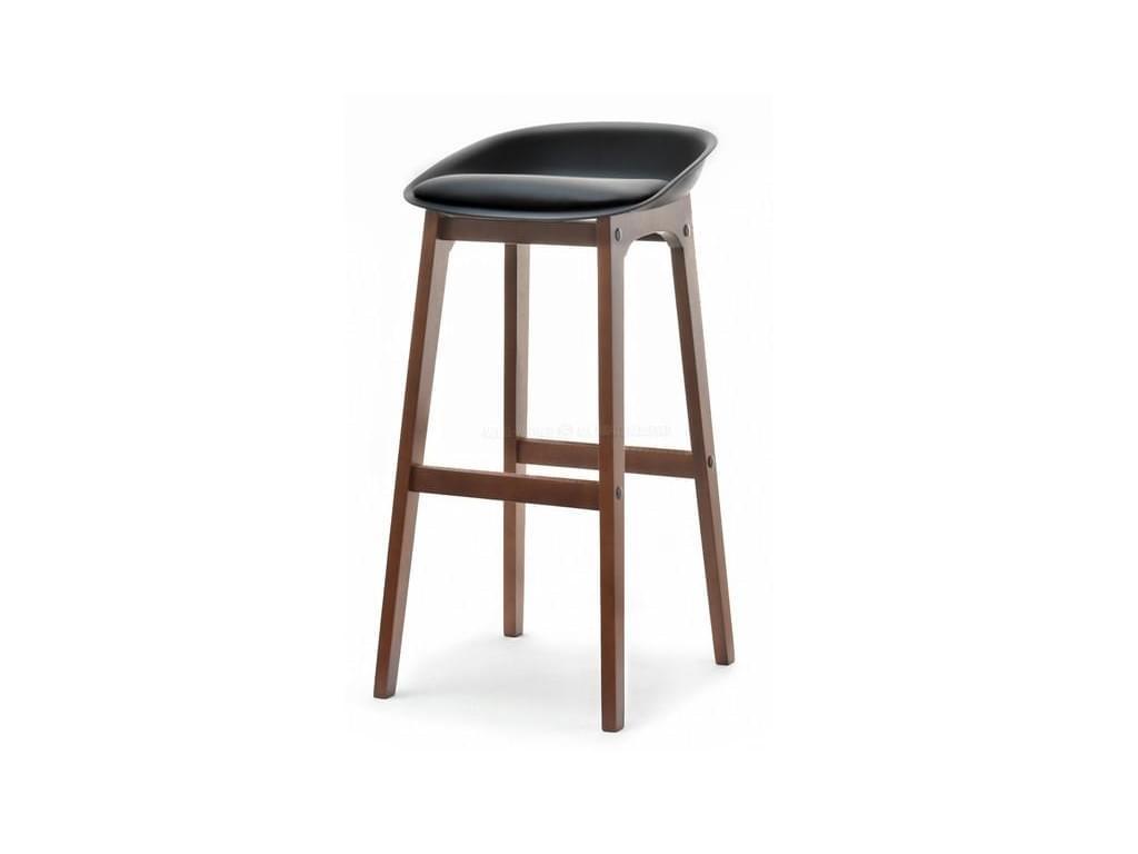 design4life Barová židle LOMELO - LIRO černá/ořech
