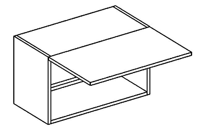 W60OKGR  horní skříňka nad digestoř sonoma KN2000