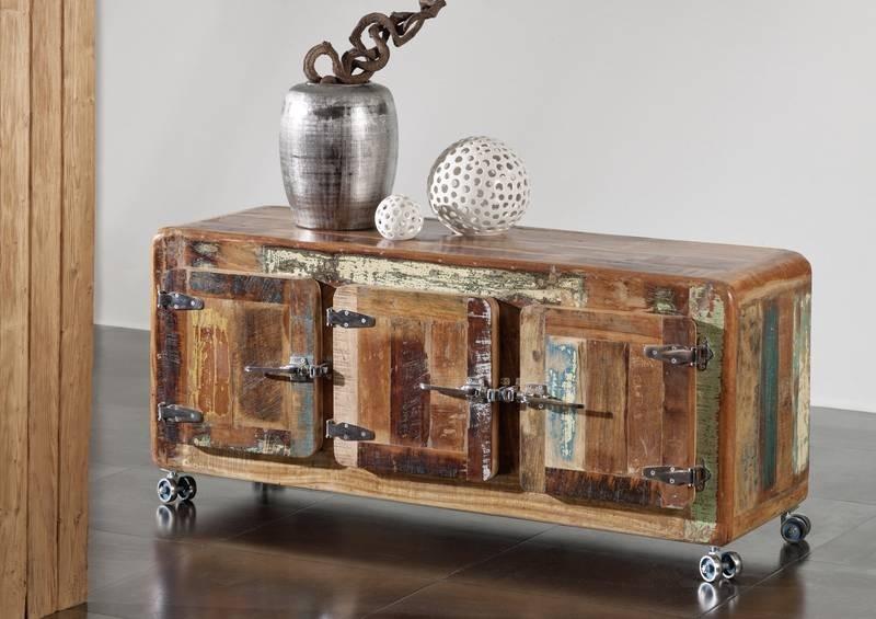 Masiv24 - TESORI komoda, litina a staré  dřevo