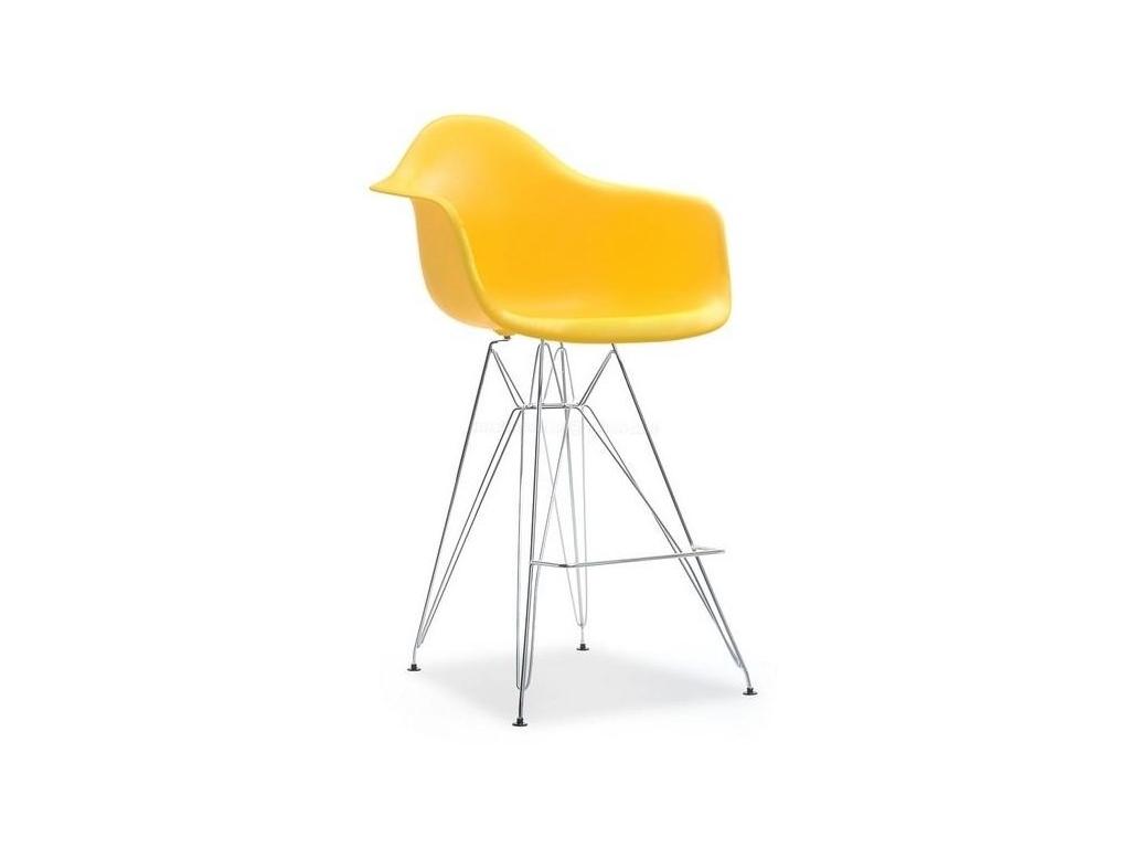 design4life Barové křeslo MERLOTE žluté