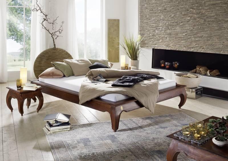 Masiv24 - ORIENT postel akát, nugátová 200x200cm