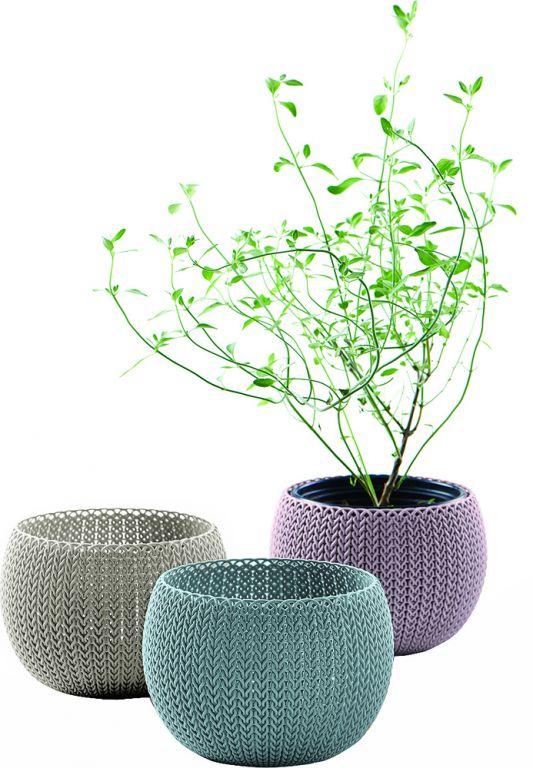 Keter 41417 Sada designových plastových květináčů COZIES TRIO