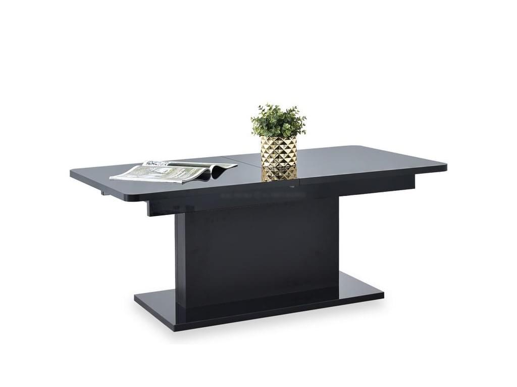design4life Rozkládací jídelní stůl PRIMA, černá