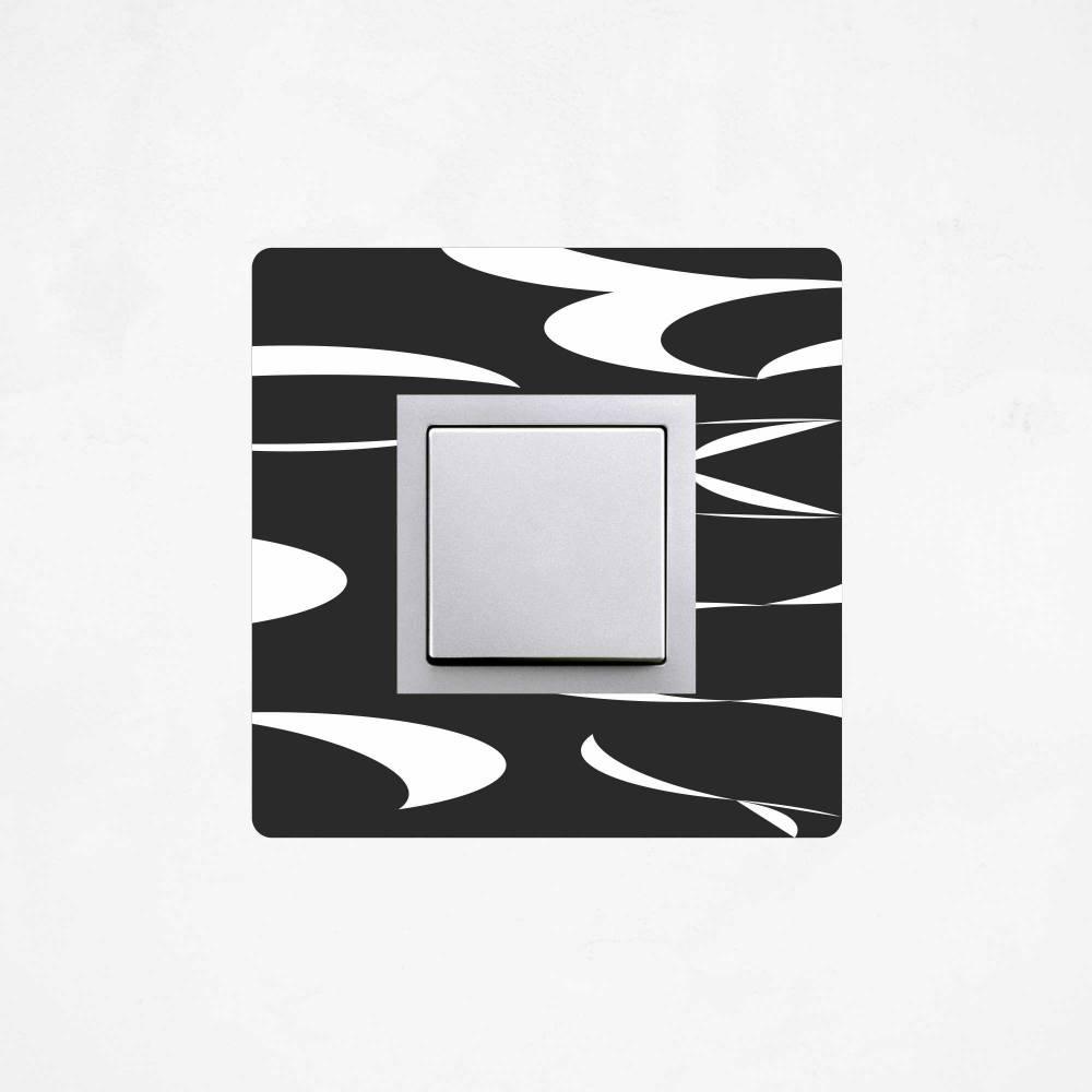 Samolepka na vypínač - Abstrakce vlnky