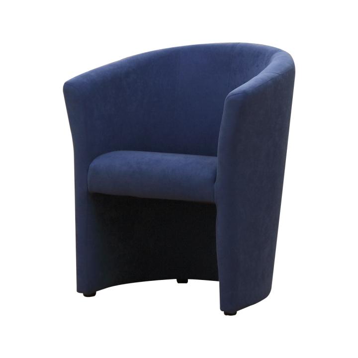 Křeslo v jednoduchém moderním designu modrá CUBA