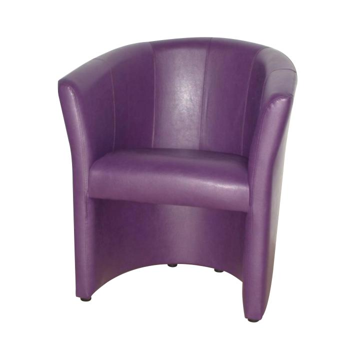 Křeslo v jednoduchém moderním designu fialová CUBA