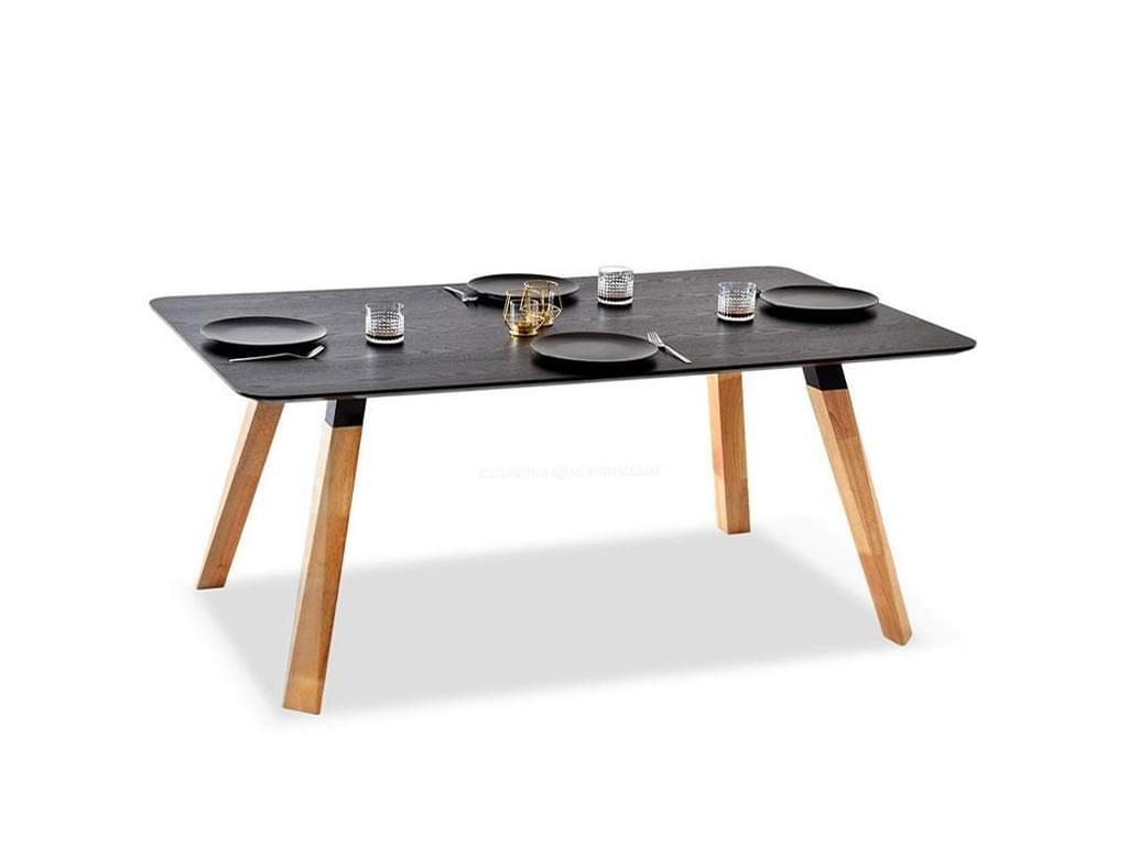 design4life Designový jídelní stůl SIROS černá, dub