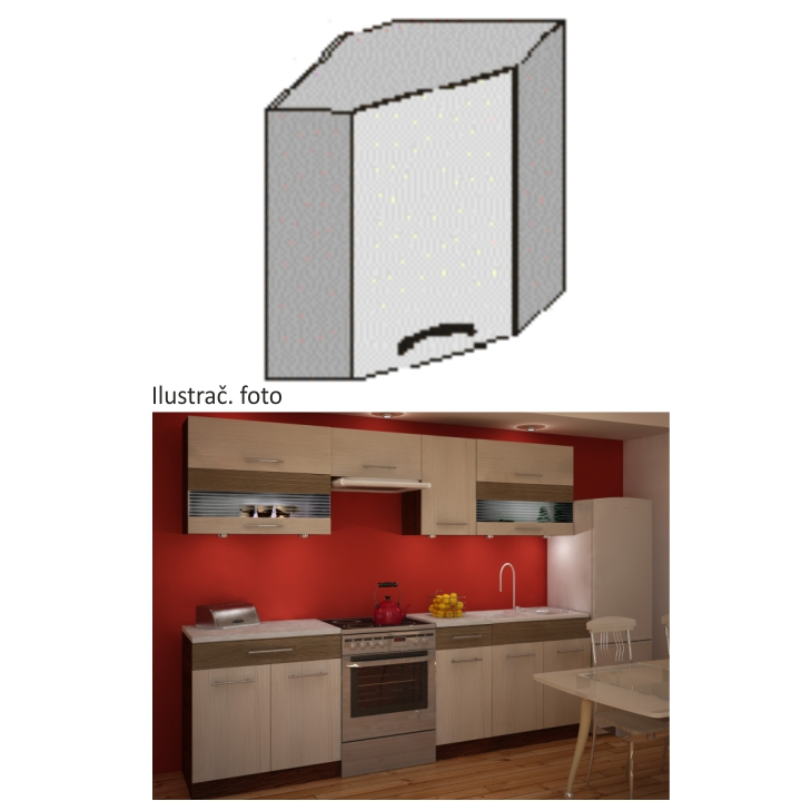 Kuchyňská skříňka, rigoleto light/dark, JURA NEW IA GN-58 * 58