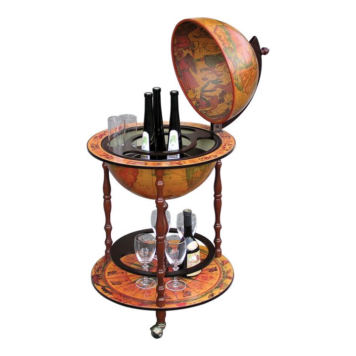 Barový stolek v moderním třešňovém provedení GLOBUS 2 - 324