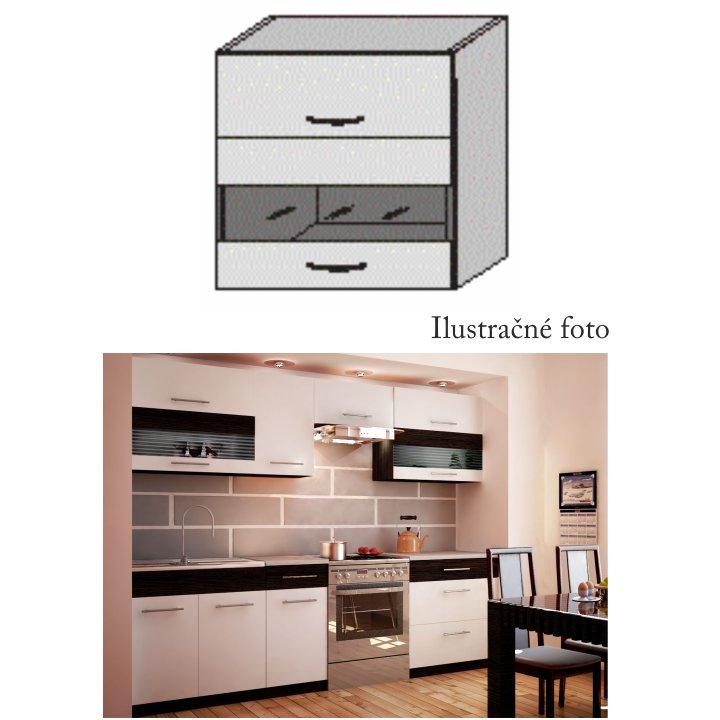 Horní skříňka, bílá / venge, JURA NEW B OGW1-80