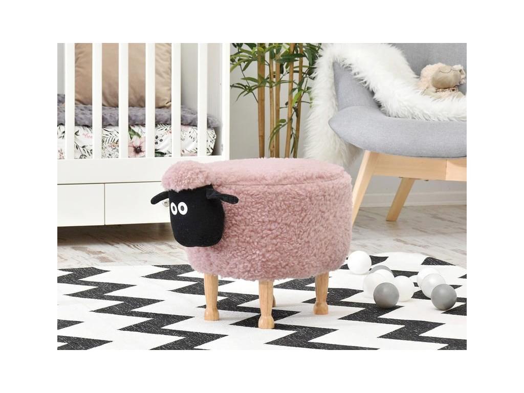 design4life Dětský taburet-ovečka AGNELLO růžová