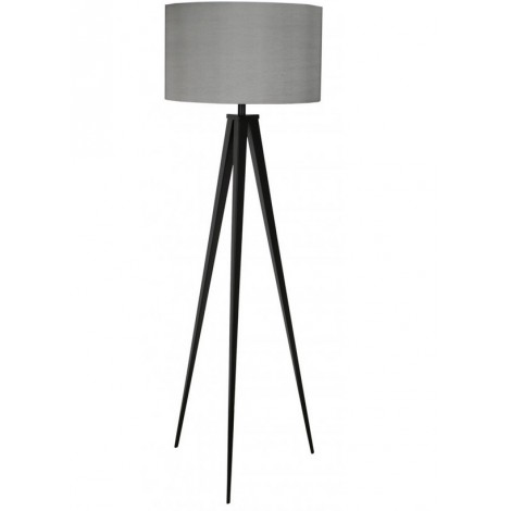 Zuiver Stojací lampa Zuiver Tripod black grey trojnožka