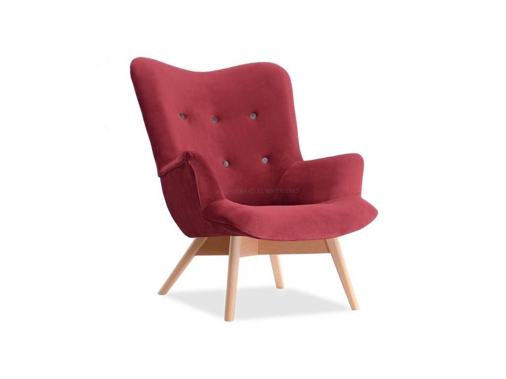 design4life Křeslo Wizner červená/buk