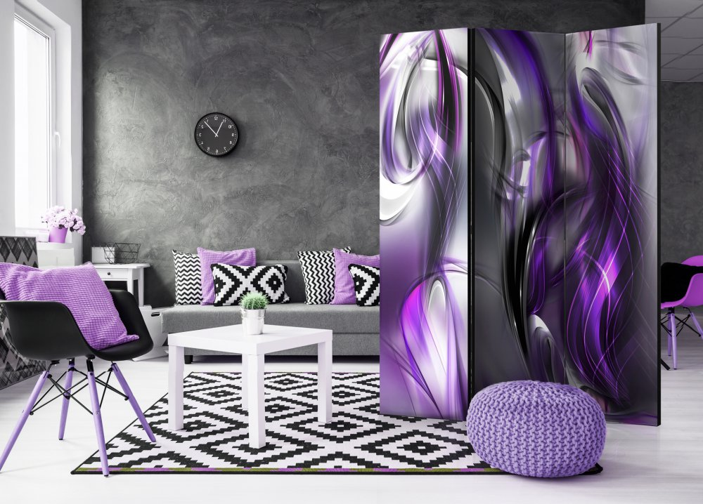 Paraván - Purple Swirls 135x172 cm