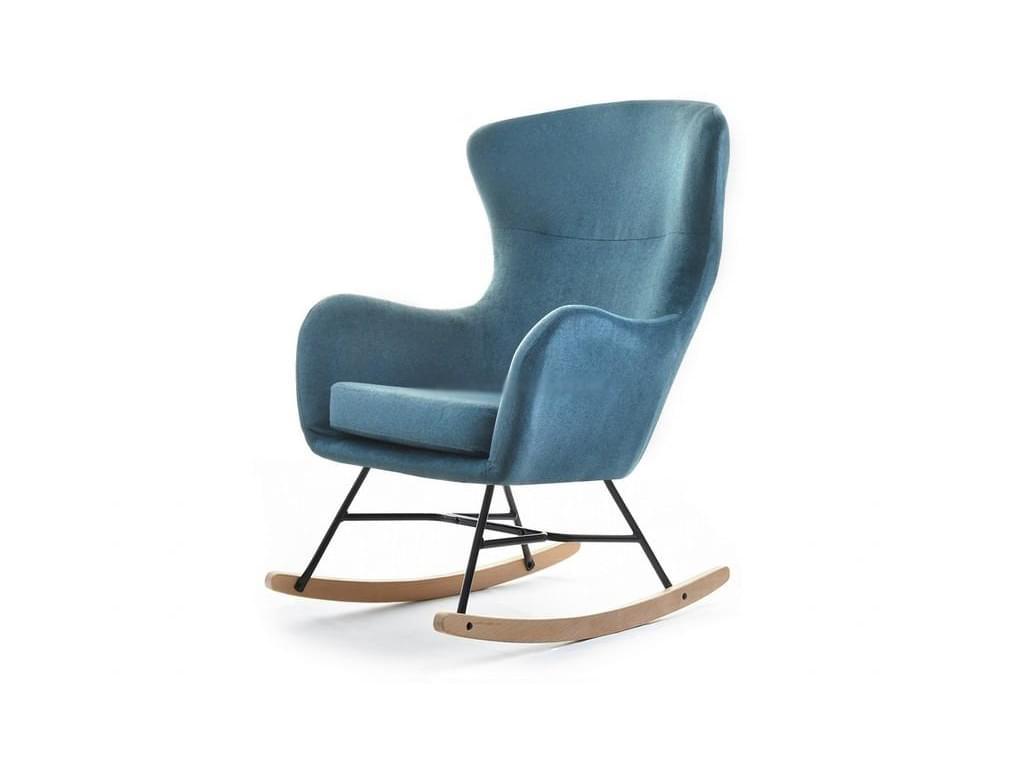 design4life Houpací křeslo PAPPANO, tyrkysová/výběr barvy podnože