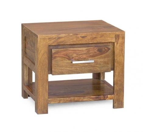 Masiv24 - masivní noční stolek, indický palisandr DAKOTA