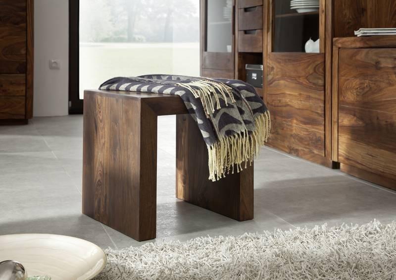 Masiv24 - Sheesham taburet, masivní palisandrové dřevo BARON