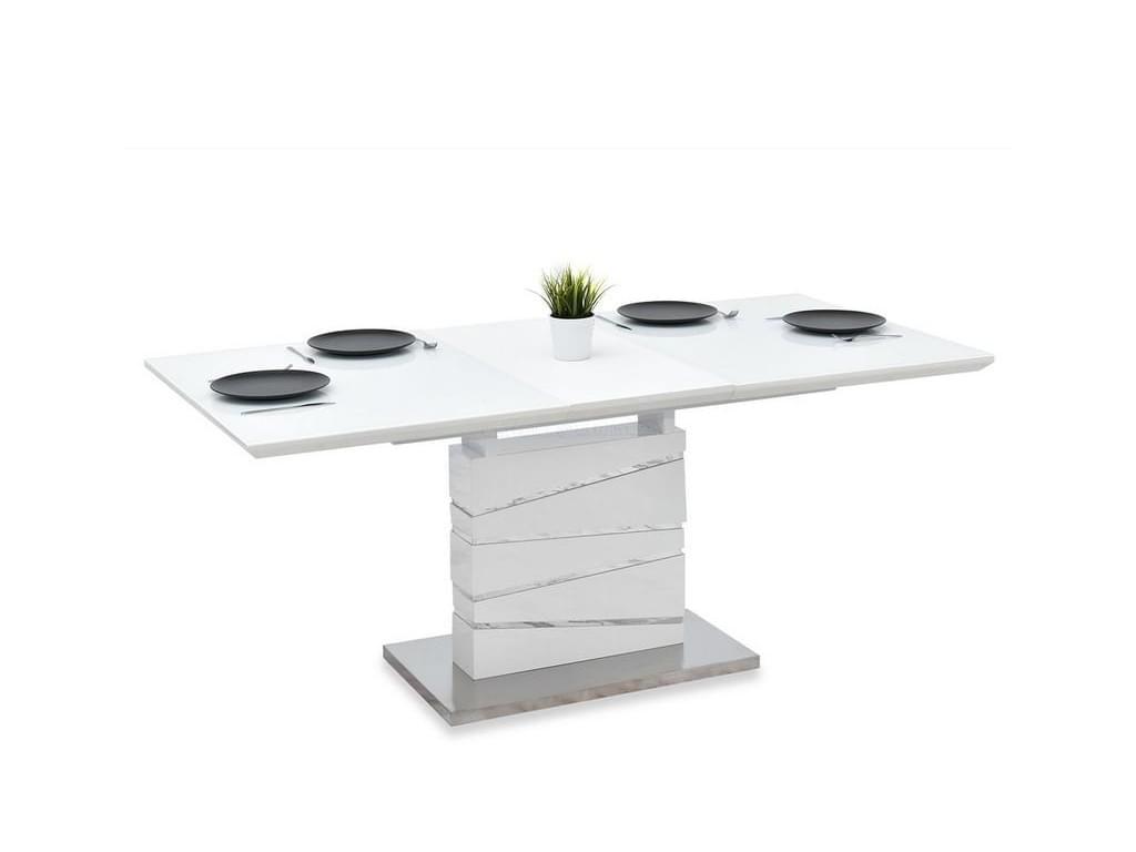 design4life Jídelní stůl PYKOSSO 140-180 cm bílá