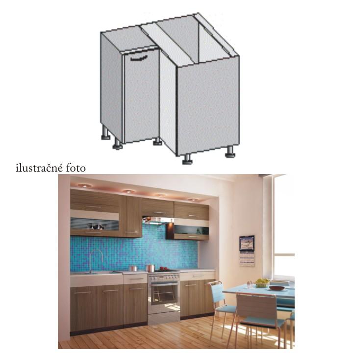 Kuchyňská skříňka rohová, rigoleto dark/light, JURA NEW I DN-88 * 88