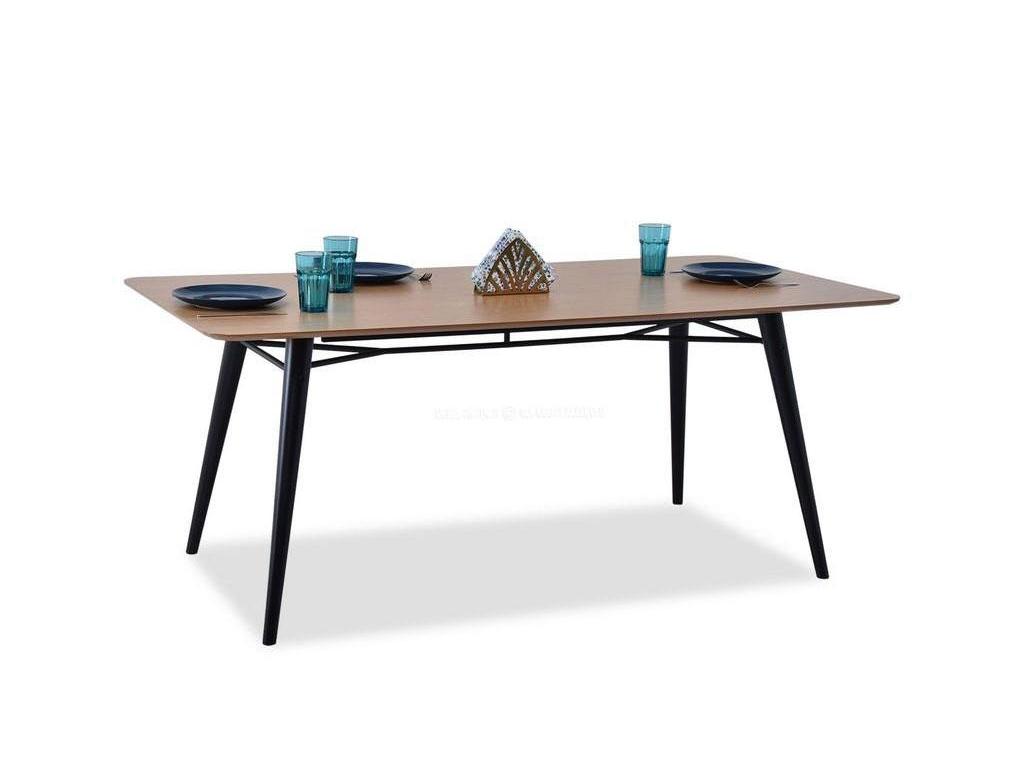 design4life Jídelní stůl TOLEDO dub-černá