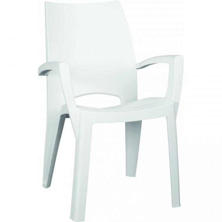 a920e568b03e Plastové křeslo SPRING - bílé