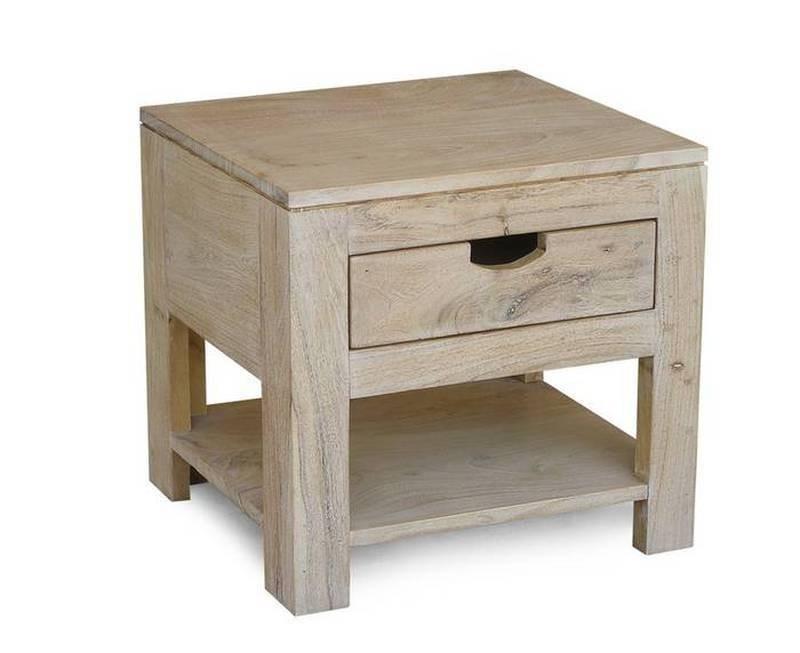 Masiv24 - WHITE WOOD noční stolek malovaný akátový nábytek