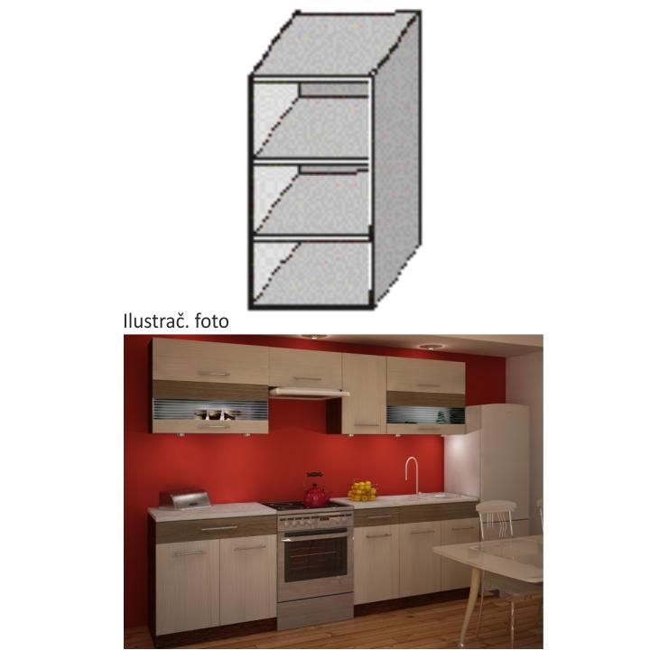 Kuchyňská skříňka policová, rigoleto/dark, JURA NEW IA GO-20