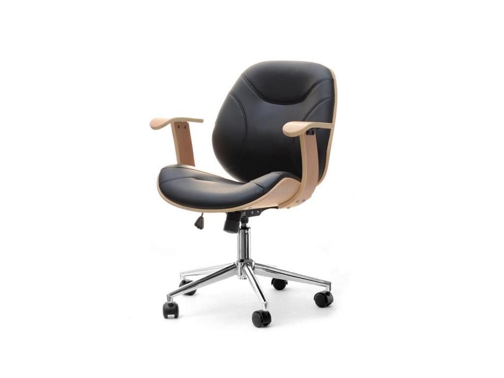design4life Kancelářská židle RAGGIO buk-černá, chrom