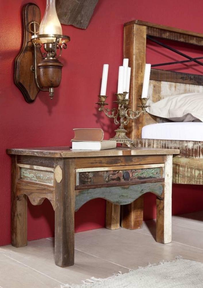 Masiv24 - OLDTIME noční stolek lakované staré indické dřevo