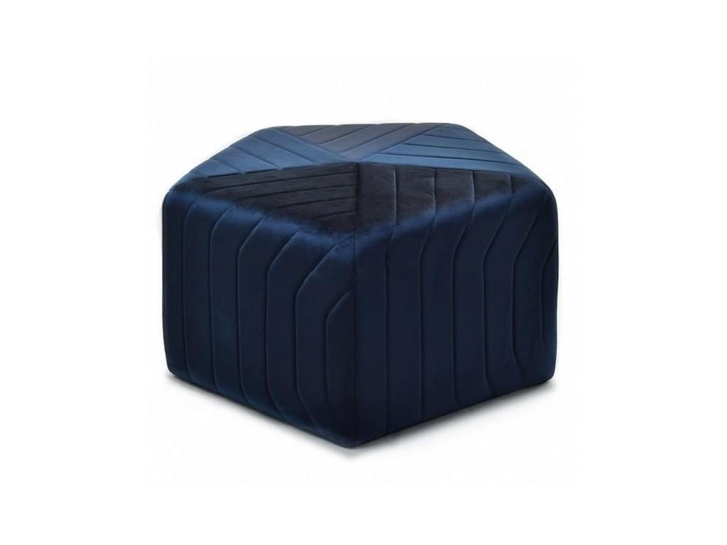 design4life Puf HABBY 70 cm, tmavě modrý velur