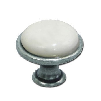 Úchyt knoflík porcelán GP19 pro kuchyňskou skříňku