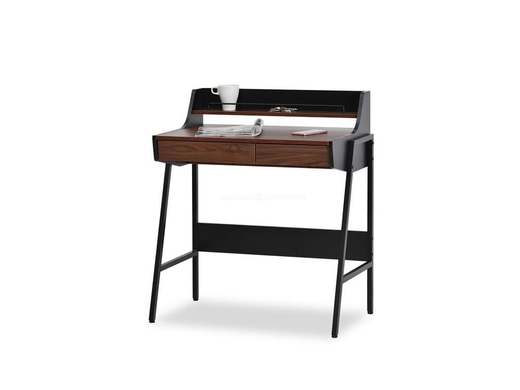 design4life Psací stolek ROBAN černá-ořech