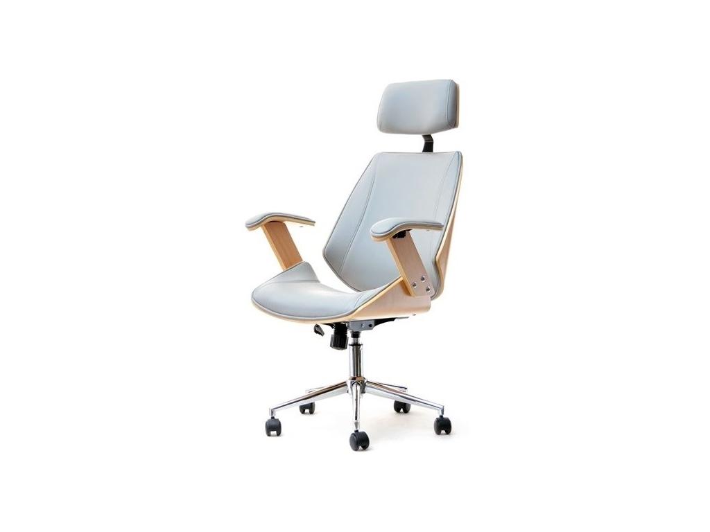 design4life Luxusní kancelářská židle PRESINO Šedá