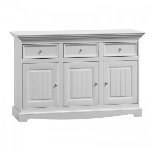 Bílý nábytek Belluno Elegante 3.3, dřevěná komoda, bílá, masiv, borovice 232019141