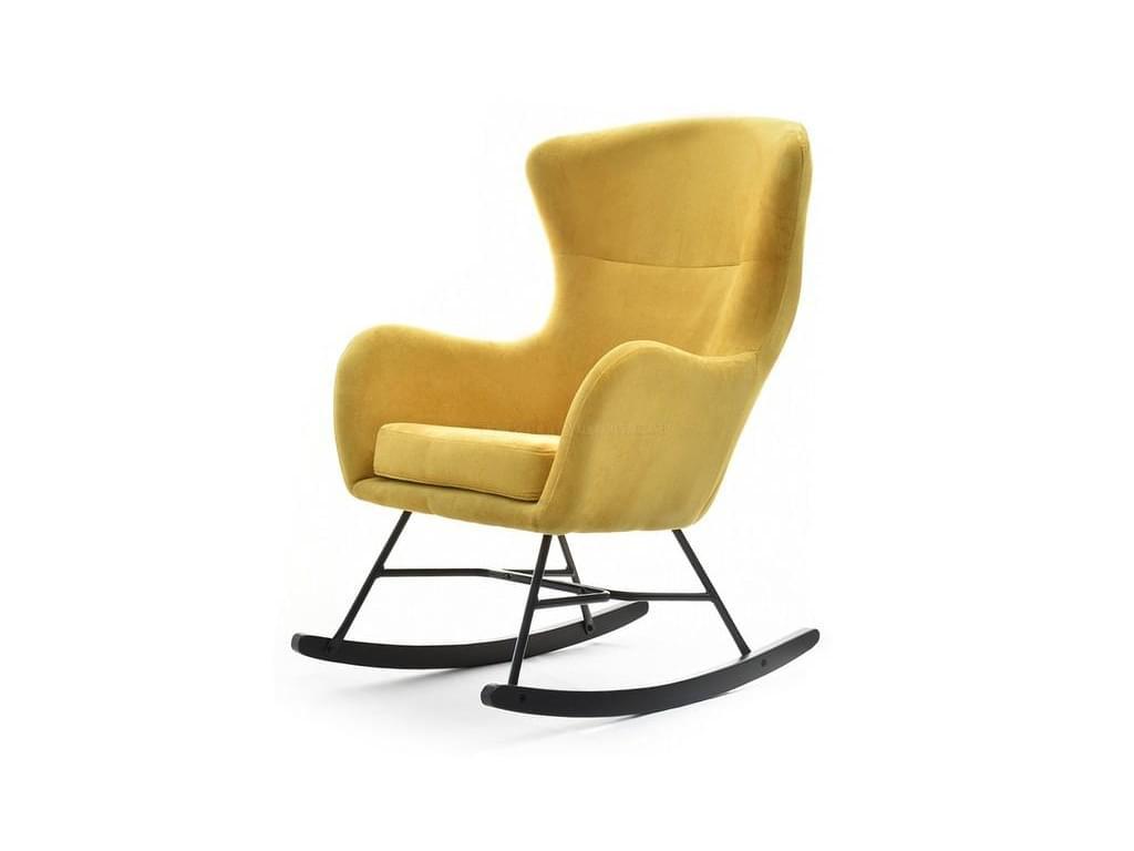 design4life Houpací křeslo PAPPANO žlutá