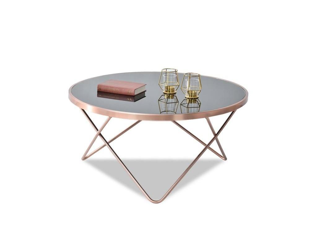 design4life Konferenční stolek LELIMA XL, měděná/černá