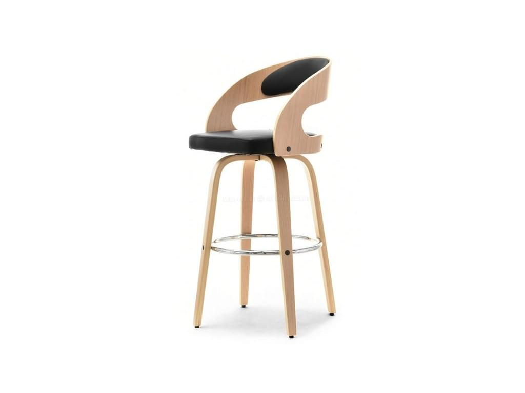 design4life Barová židle  TANTA, dub/černá