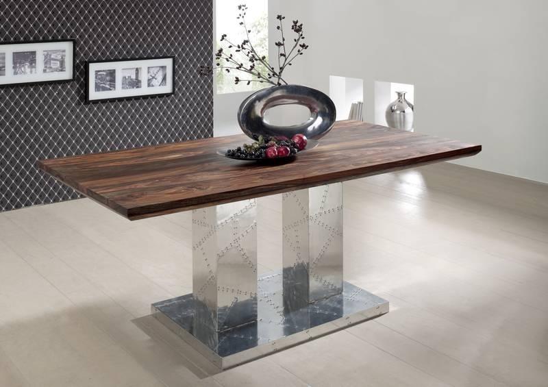 Masiv24 - PLAIN SHEESHAM jídelní stůl 200x100 olejovaný indický palisandr, šedá