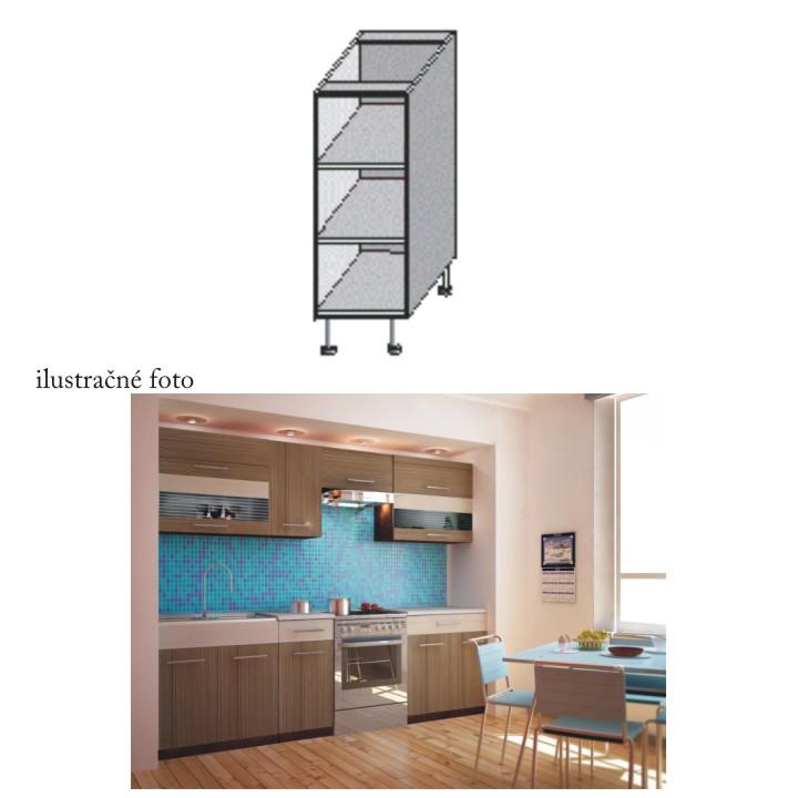 Kuchyňská skříňka policová, wenge, JURA NEW I DO-20