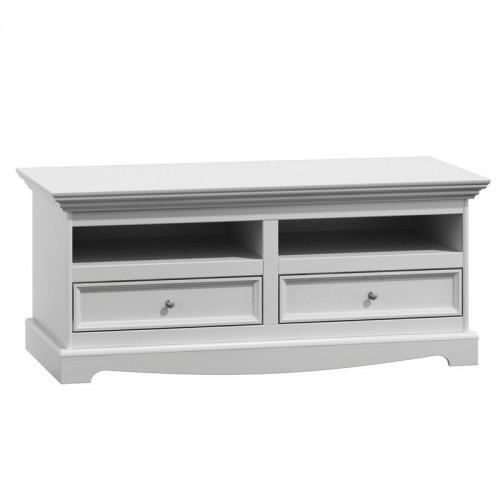 Bílý nábytek TV stolek Belluno Elegante, bílá, masiv, borovice 232019116