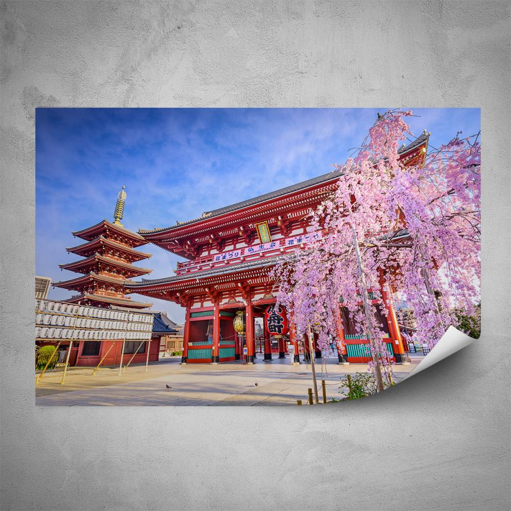 Plakát - Čínský chrám (60x40 cm)