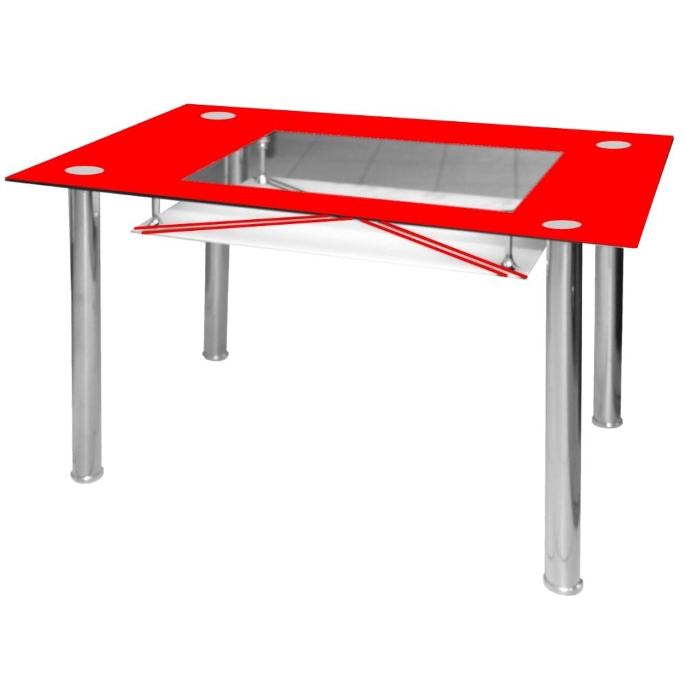 Jídelní stůl skleněný F056 červený