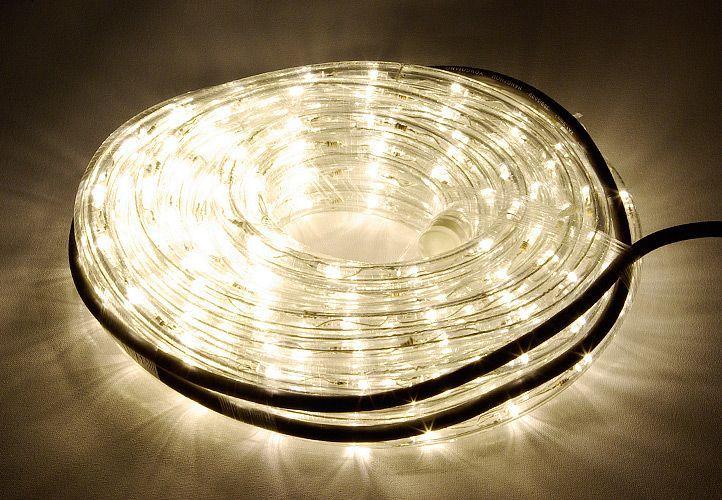 OEM D00810 LED světelný kabel 10 m - teple bílá, 240 diod