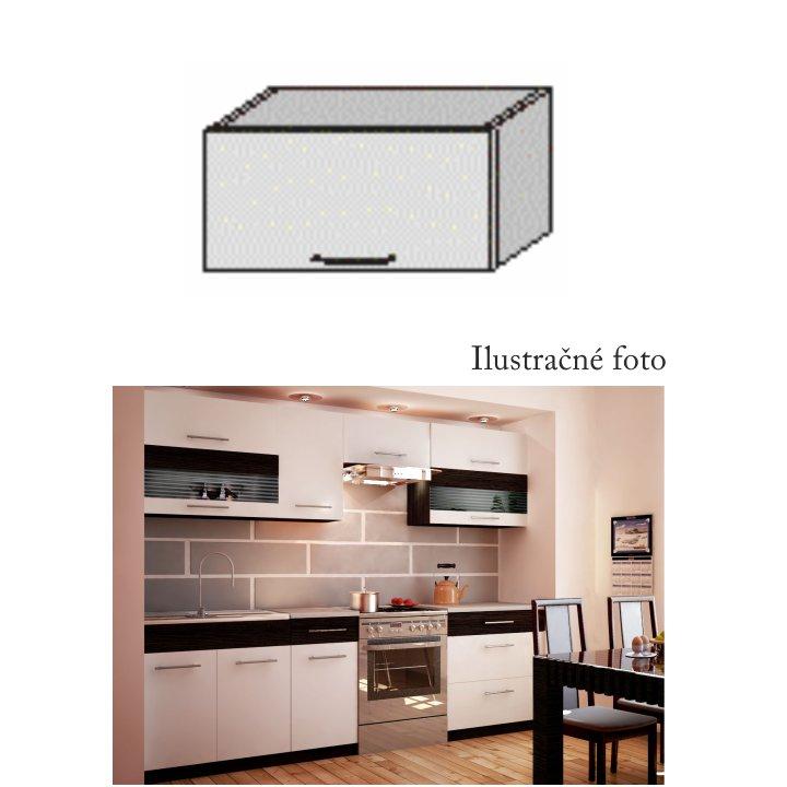 Horní skříňka, bílá / venge, JURA NEW B OG-60